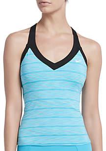 Nike® Heather Stripe V-Neck Swim Tankini