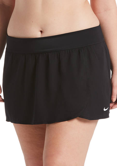 Plus Size Solid Essential Swim Boardskirt