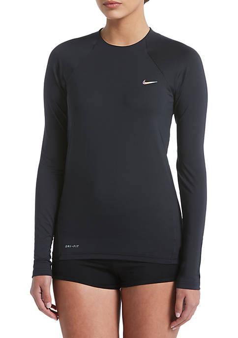 Nike® Solid Long Sleeve Swim Hydroguard Top