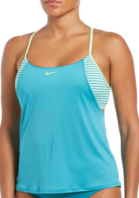Nike® Micro Stripe Layered Swim Tankini