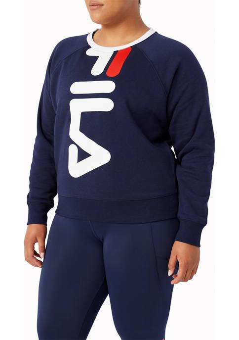 Fila Plus Size Slick Chicks Crew Sweatshirt