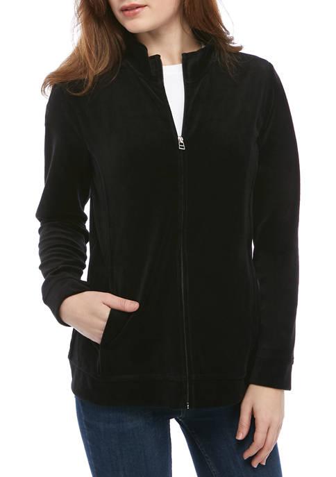 Kim Rogers® Petite Solid Velour Jacket