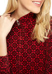 Womens Printed Velour Jacket