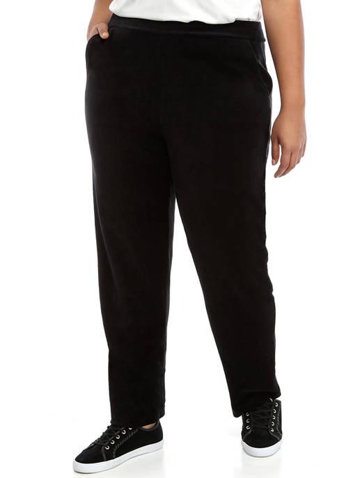 Plus Size Velour Pants