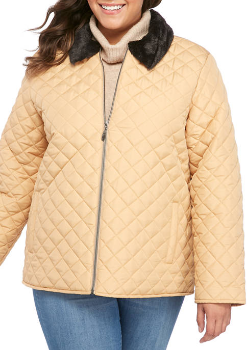 Kim Rogers® Plus Size Long Sleeve Puffer Jacket