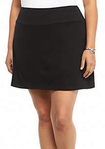 Kim Rogers® Plus Size Solid Stretch Jersey Skort