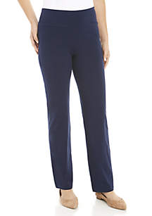 Petite Straight Leg Pull On Pant