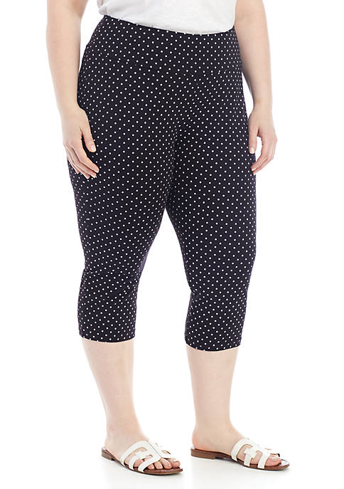 Kim Rogers® Plus Size Polka Dot Everyday Capris
