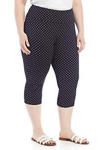 Kim Rogers® Plus Size Polka Dot Everyday Capris