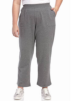 Kim Rogers® Plus Size Short French Terry Pants