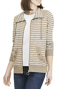 Stripe Grommet Jacket