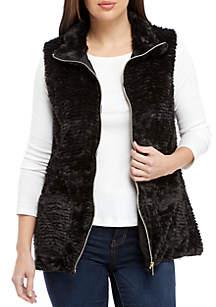 Kim Rogers® Chevron Faux Fur Vest