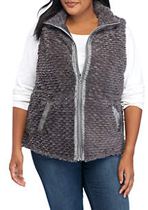 Plus Size Reversible Thermal Vest