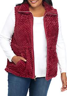 Kim Rogers® Plus Size Reversible Thermal Vest
