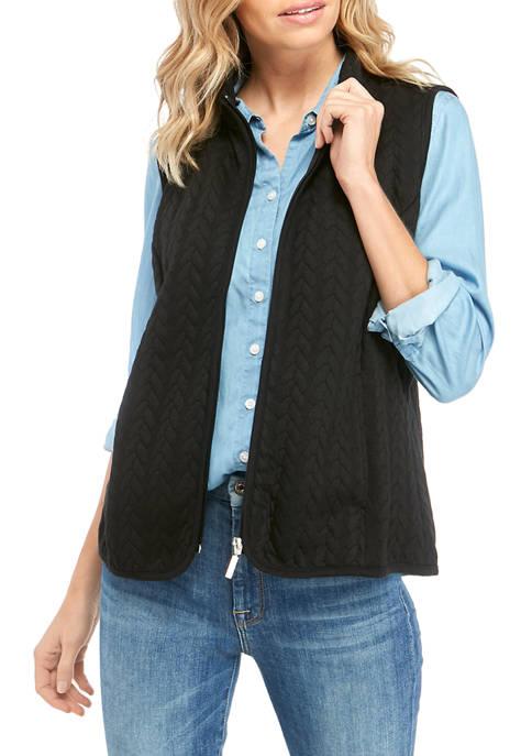 Kim Rogers® Petite Braided Quilt Vest
