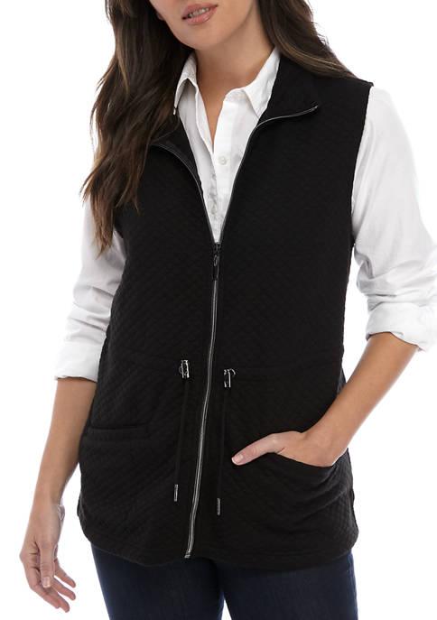 Kim Rogers® Womens Diamond Quilt Anorak Vest