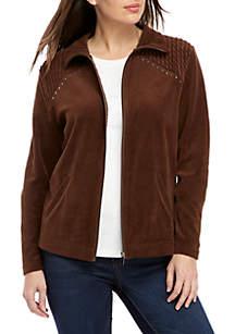 Velour Rouched Bodice Bling Jacket