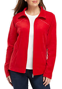 Velour Rouched Bodice Bling Jacket