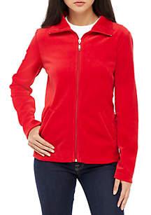 Petite Solid Velour Jacket