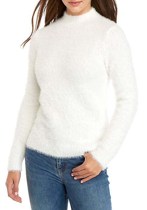 Fuzzy Mock Neck Sweater