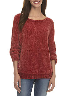Kensie Boat Neck Chenille Sweater