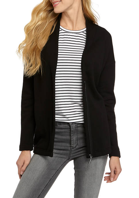 Womens Long Sleeve Cozy Fleece Jacket