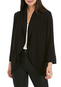 Kensie Straight Crepe Jacket