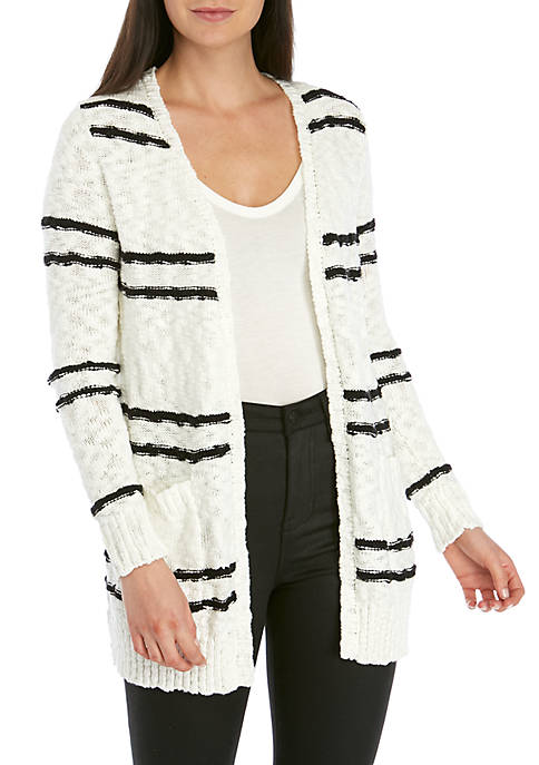 Kensie Striped Cardigan
