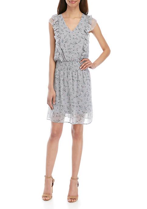Kensie Smocked Waist Sleeveless Dress