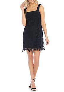 Tie Shoulder Lace Dress