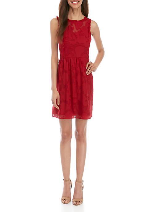 Kensie Sleeveless Burnout A Line Dress