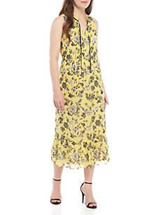 Kensie Midi Rose Print Dress