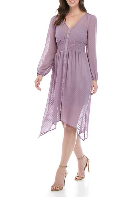 Long Sleeve Smocked Waist Dress