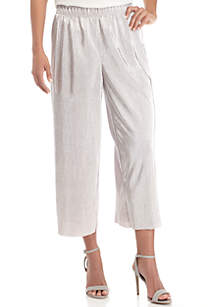 Pleated Metallic Soft Pants