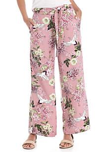 Floral Wide Leg Soft Pants