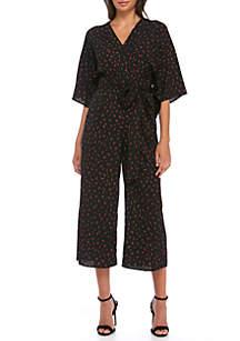 Kimono Sleeve V-Neck Jumpsuit