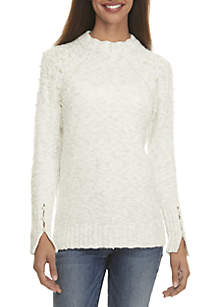 Pearl Mock Neck Sweater