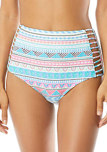 Coco Reef Captivate Strappy Side High Waist Swim Bottoms