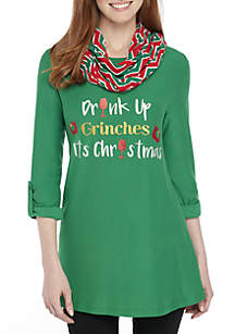 Three-Quarter Sleeve Drink Up Grinches 2Fer