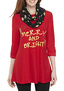 Merry and Bright Three-Quarter Sleeve 2Fer