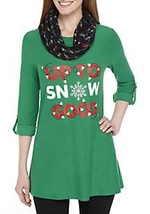 Three-Quarter Sleeve Up To Snow Good 2Fer