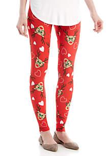 Reindeer Hearts Yummy Leggings