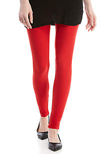 Solid Red Yummy Leggings
