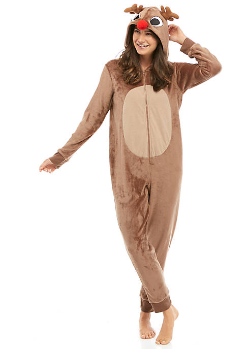 Womens Christmas Reindeer Jumpsuit