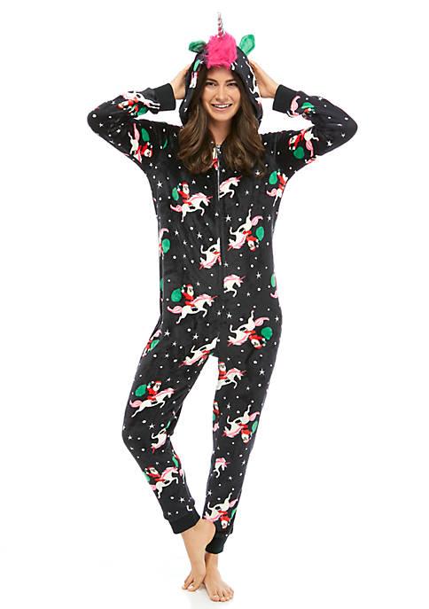 Joyland Womens Christmas Unicorn Jumpsuit