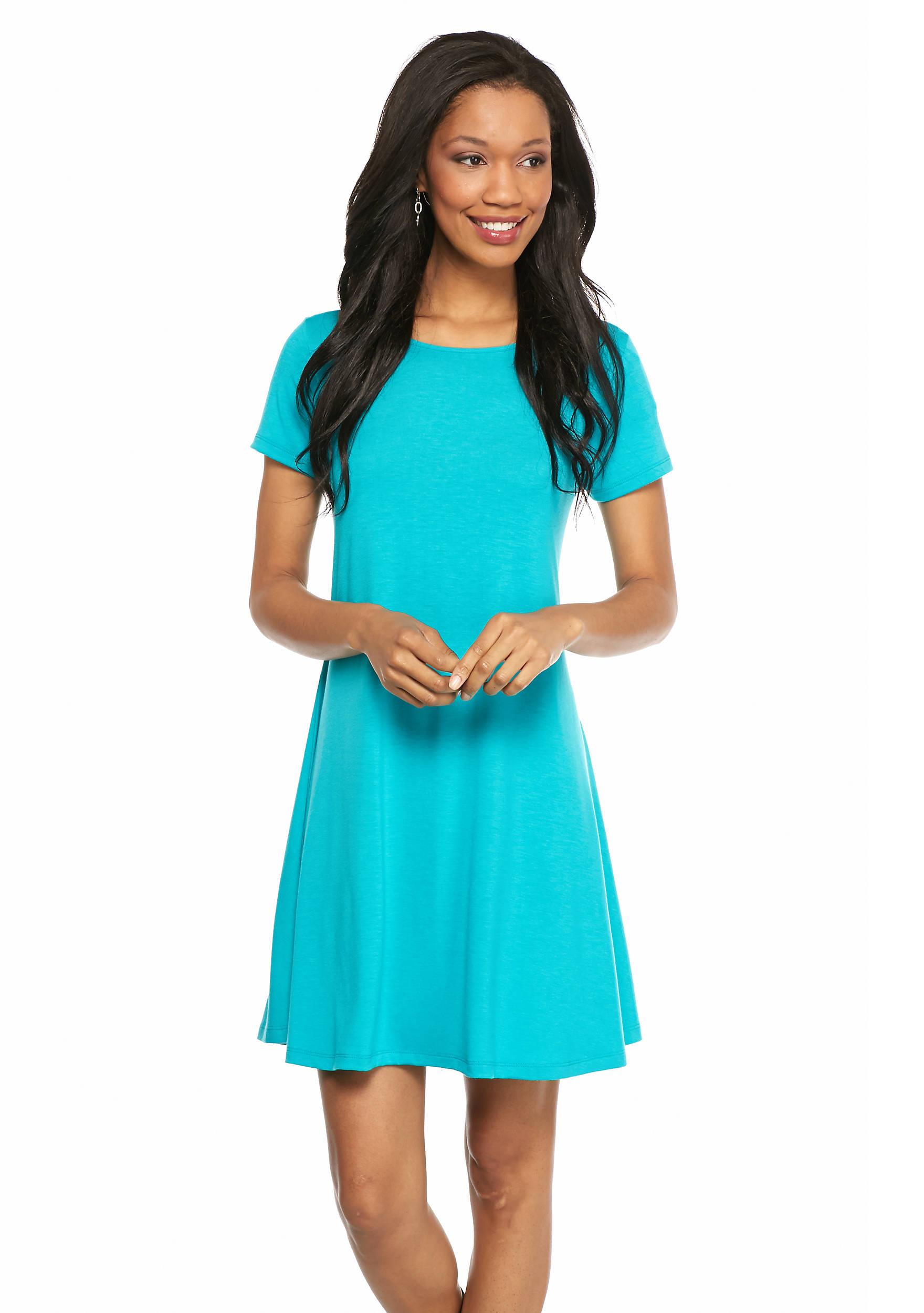 New Directions® Solid Swing Body Dress | belk