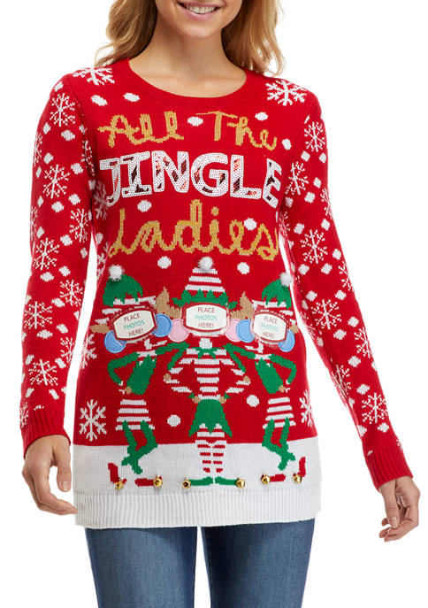 Womens All the Jingle Ladies Sweater
