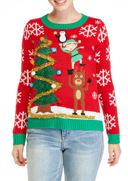 Womens Christmas Characters Sweater