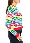 Long Sleeve Christmas Stripe Yas Santa Sweater