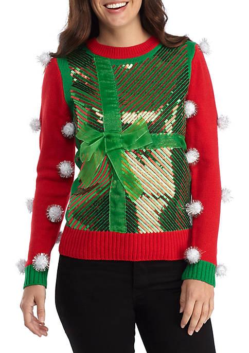 Joyland Long Sleeve Christmas Big Bow Sweater